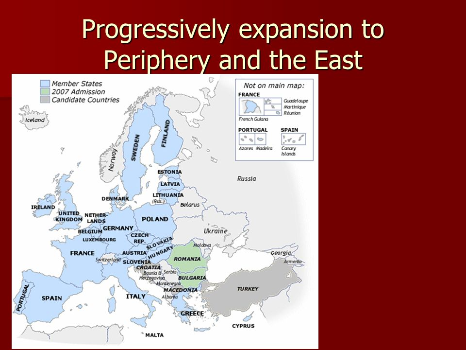 Progressively expansion to Periphery and the East