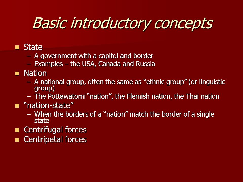 Basic introductory concepts