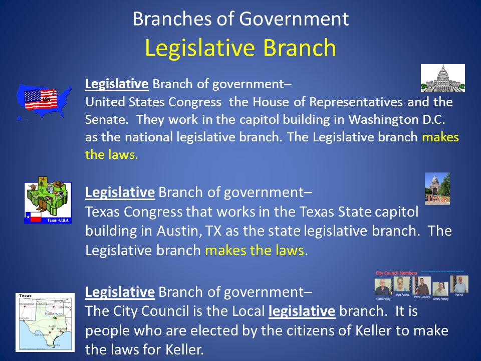 Branches of Government Legislative Branch
