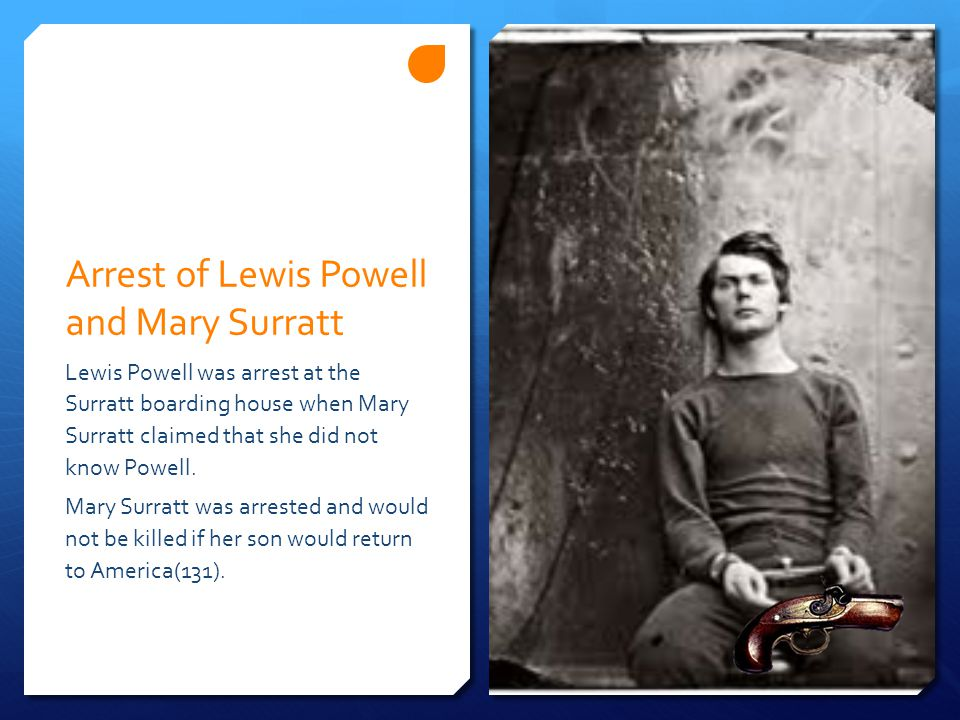 Arrest of Lewis Powell and Mary Surratt