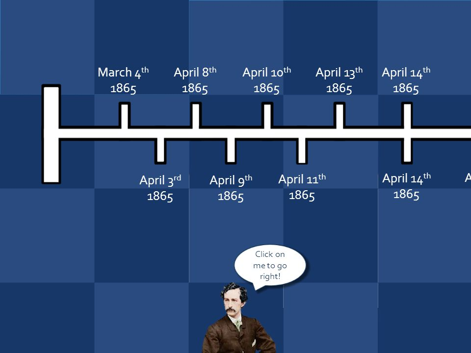 March 4th 1865 April 8th 1865 April 10th 1865 April 13th 1865