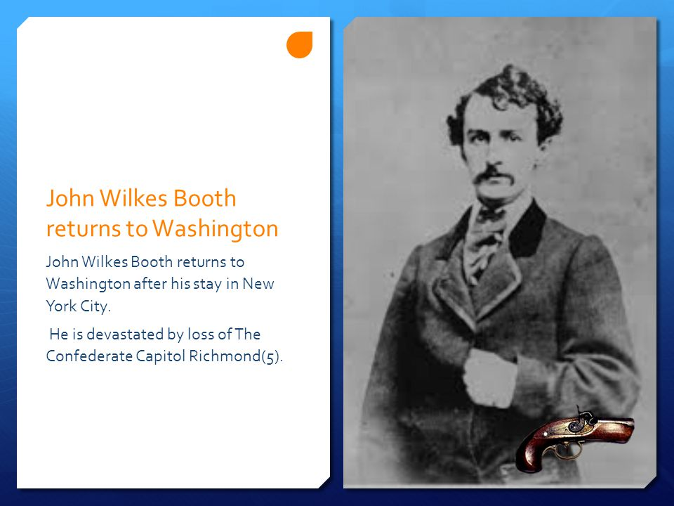 John Wilkes Booth returns to Washington