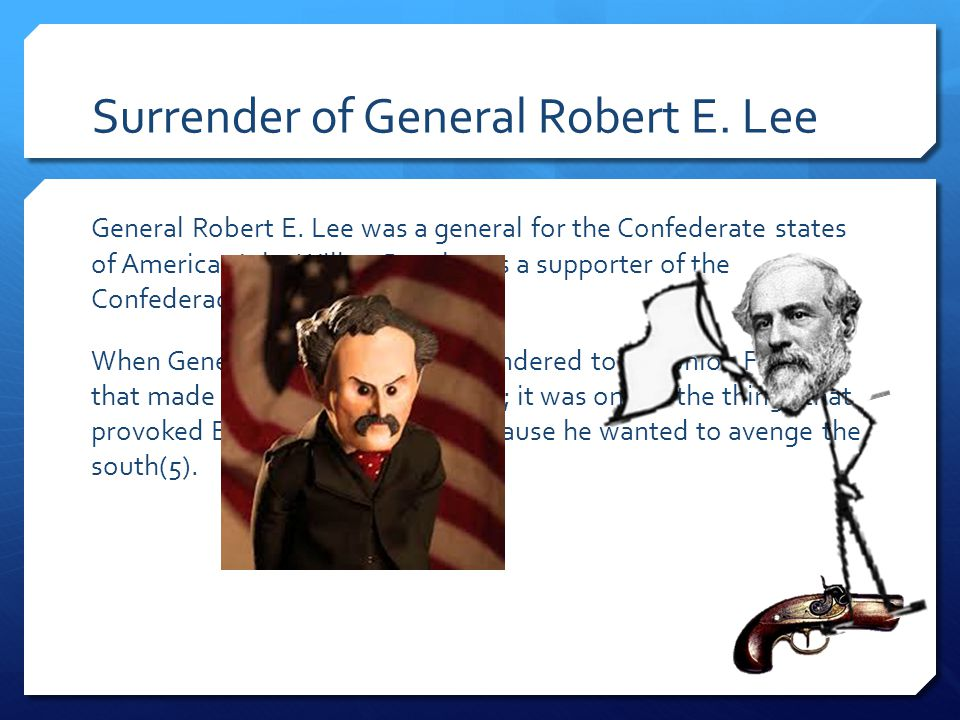 Surrender of General Robert E. Lee