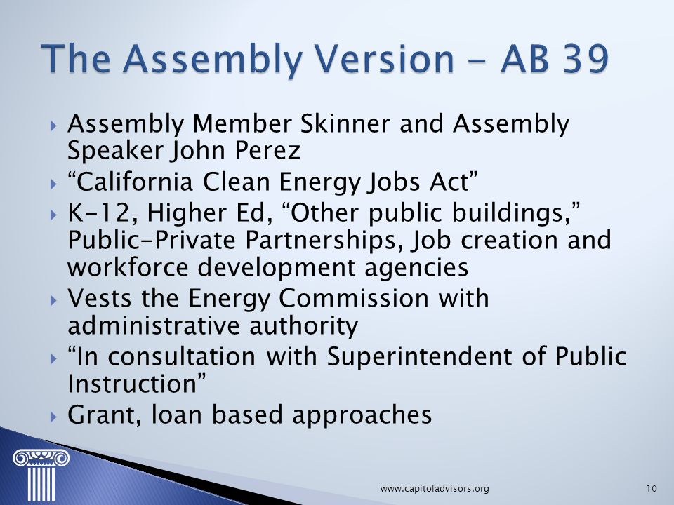 The Assembly Version - AB 39