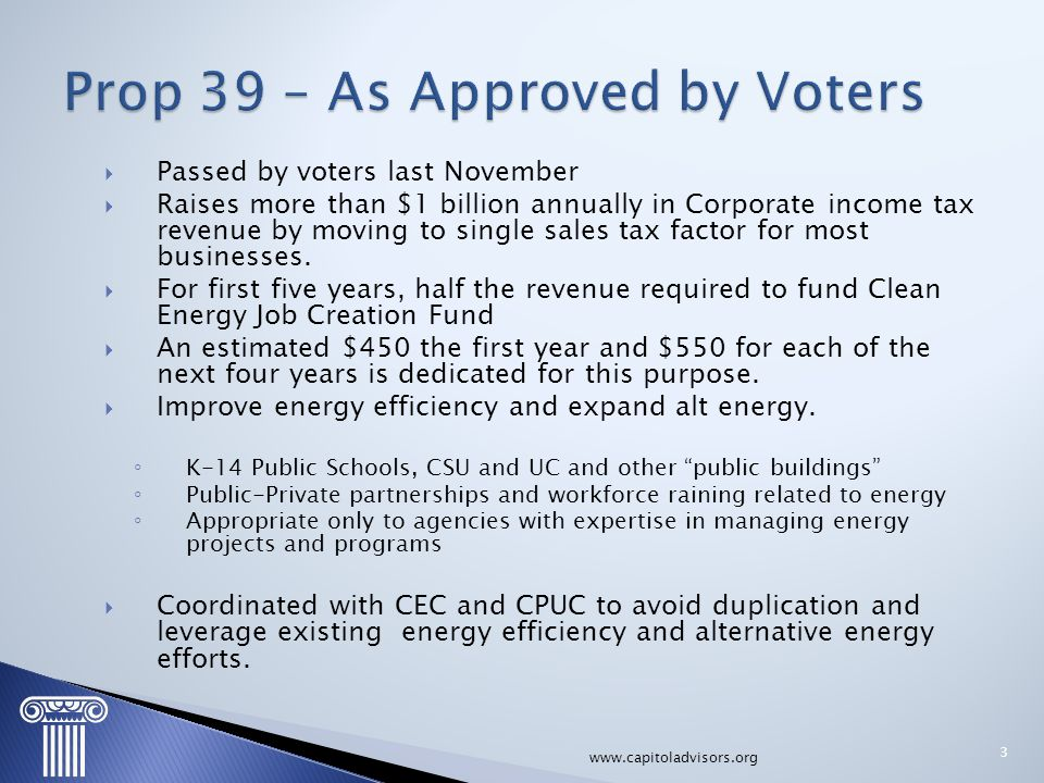 Prop 39 – As Approved by Voters