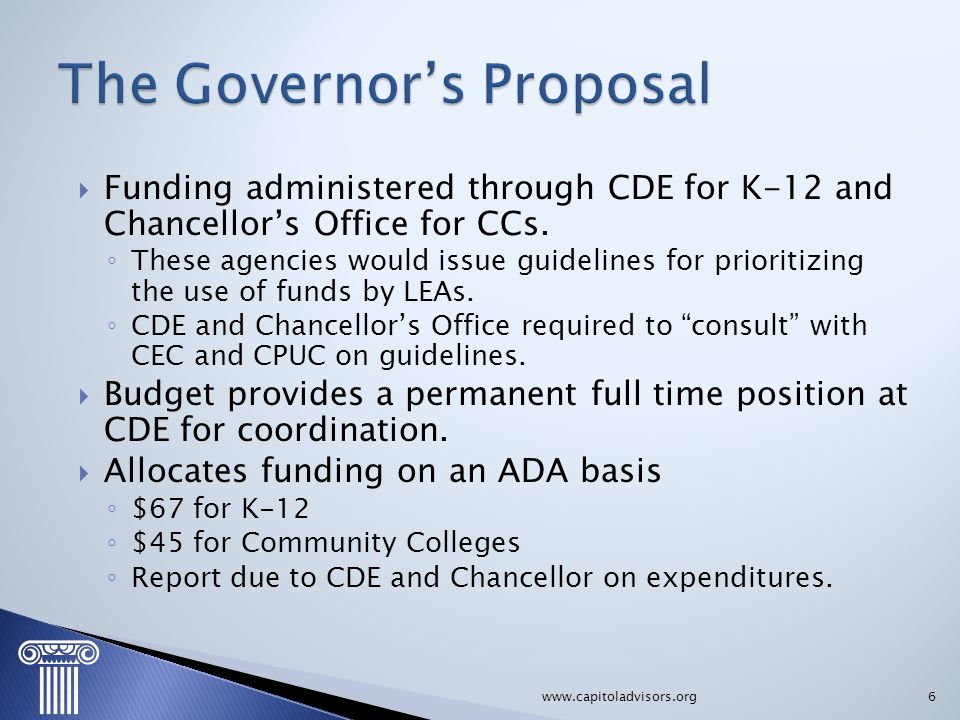 The Governor's Proposal