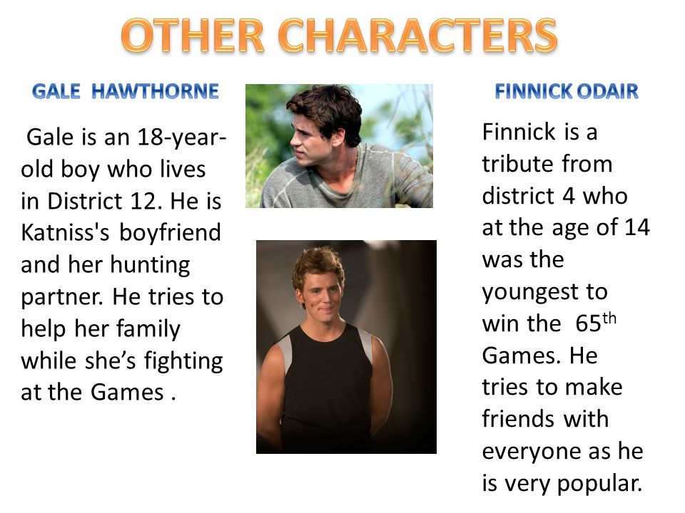 OTHER CHARACTERS GALE HAWTHORNE. FINNICK ODAIR.