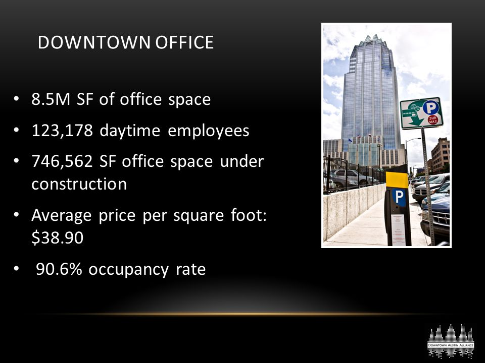 Downtown Office 8.5M SF of office space 123,178 daytime employees