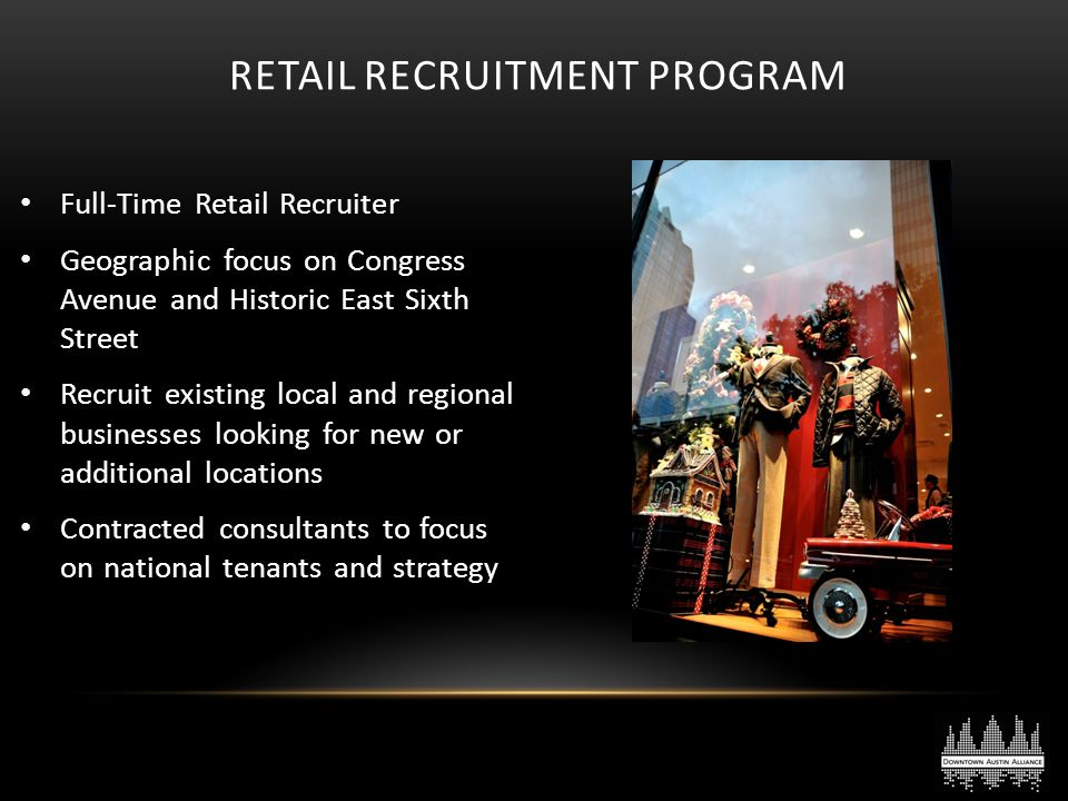 Retail Recruitment Program