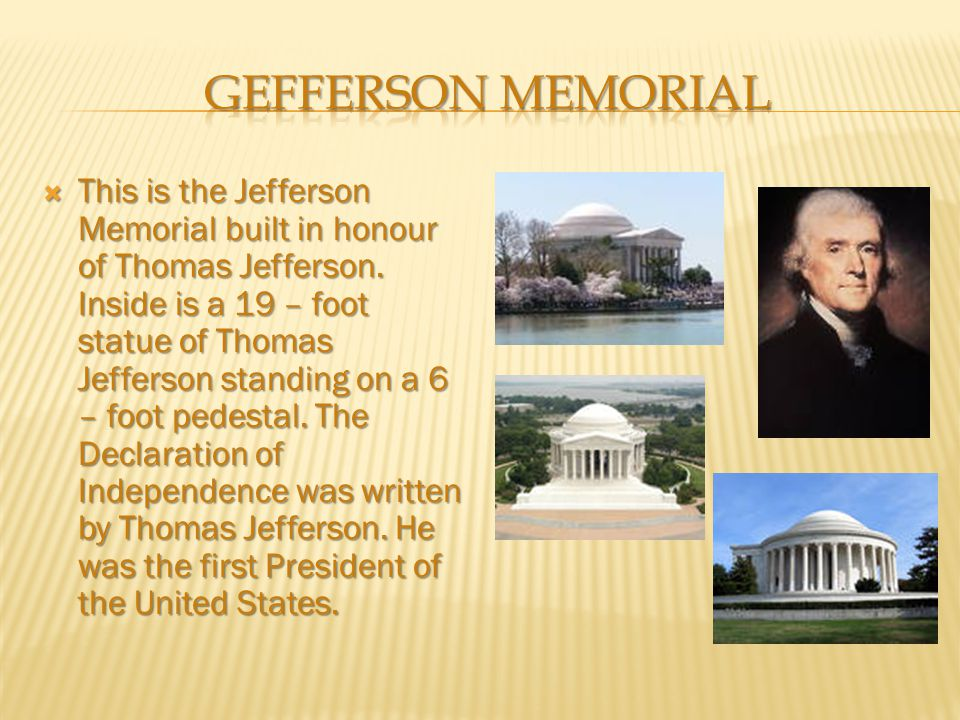 Gefferson memorial