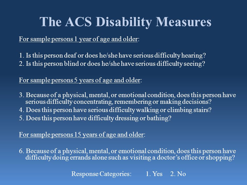 The ACS Disability Measures