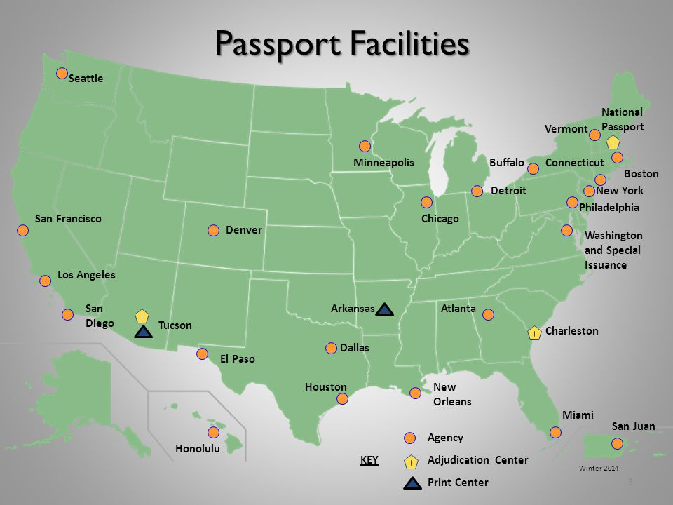 Passport Facilities Seattle National Passport Vermont Minneapolis