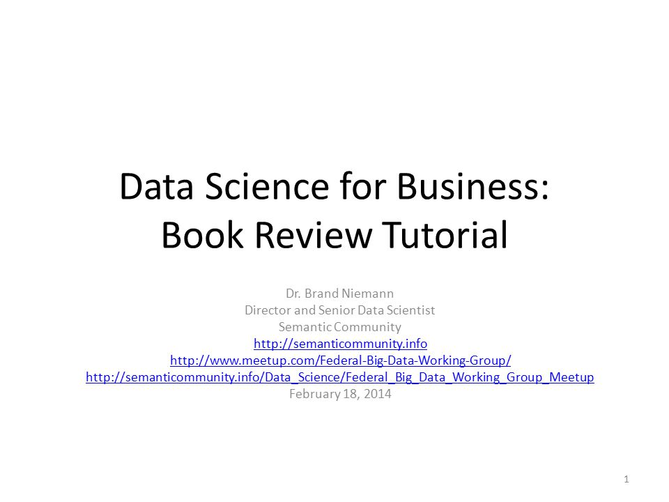 Data Science for Business: Book Review Tutorial