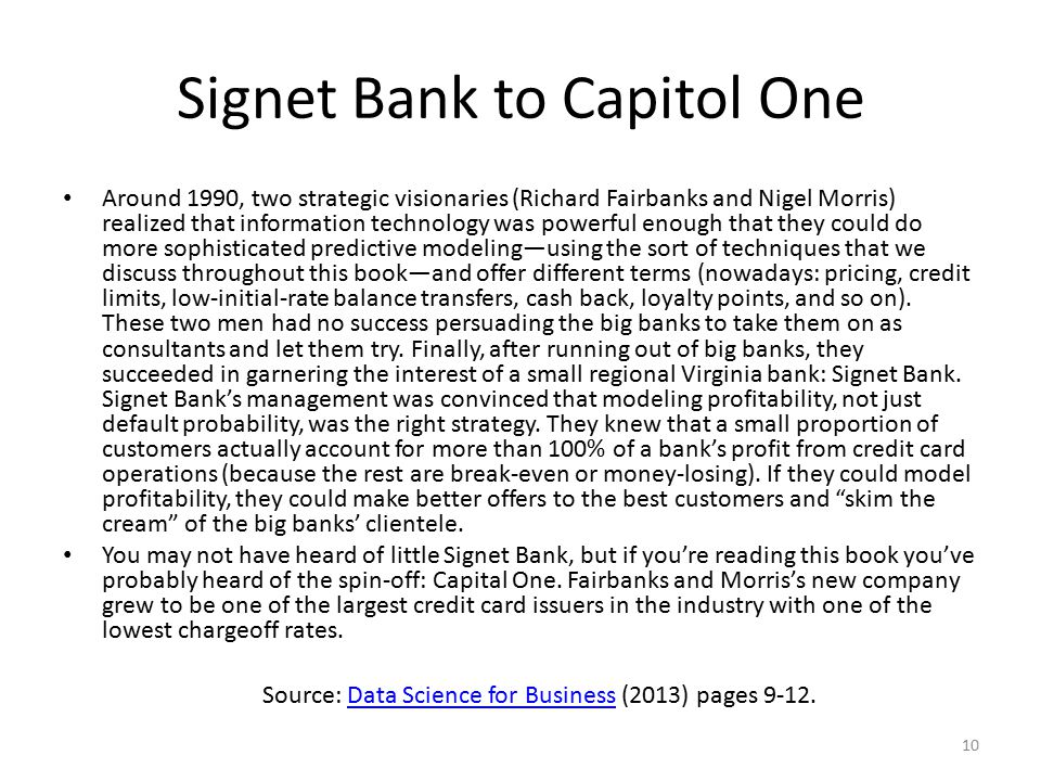 Signet Bank to Capitol One