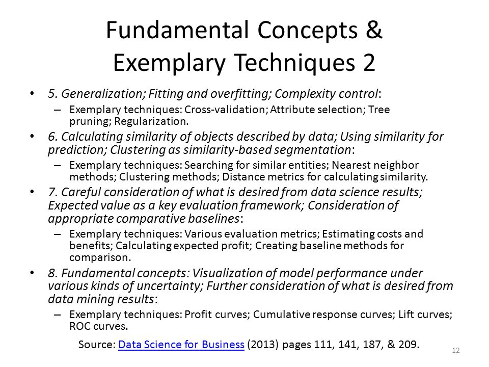 Fundamental Concepts & Exemplary Techniques 2