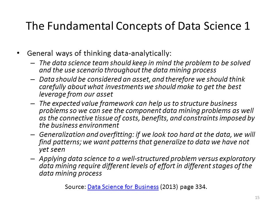 The Fundamental Concepts of Data Science 1