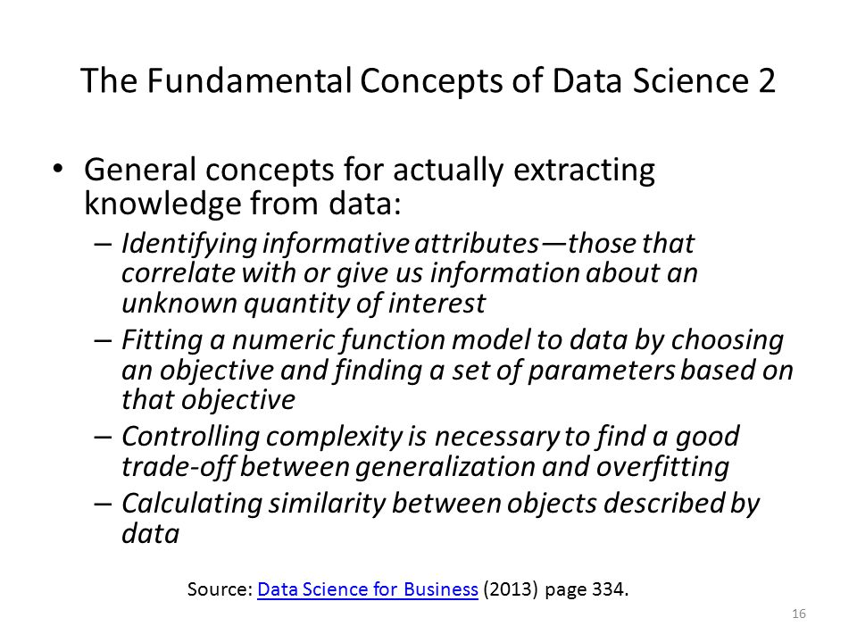 The Fundamental Concepts of Data Science 2