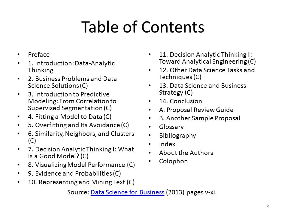 Table of Contents Preface 1. Introduction: Data-Analytic Thinking