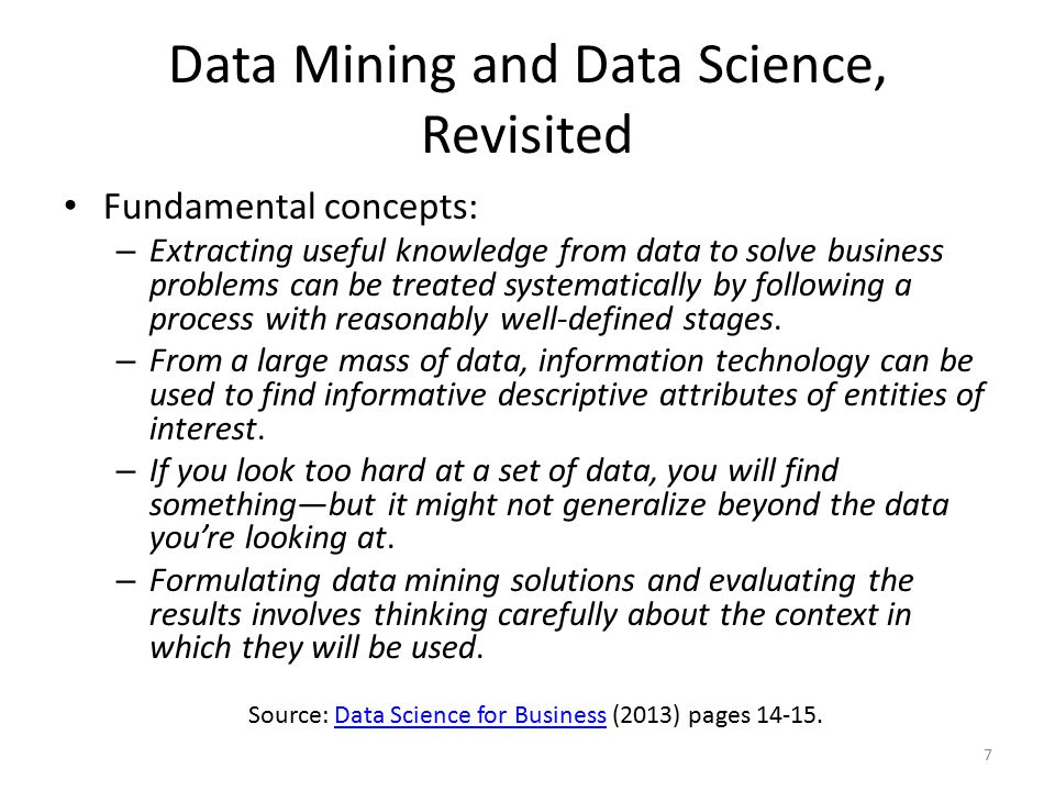 Data Mining and Data Science, Revisited