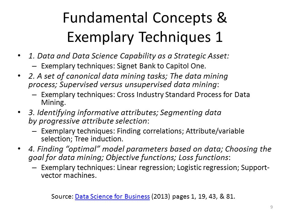 Fundamental Concepts & Exemplary Techniques 1