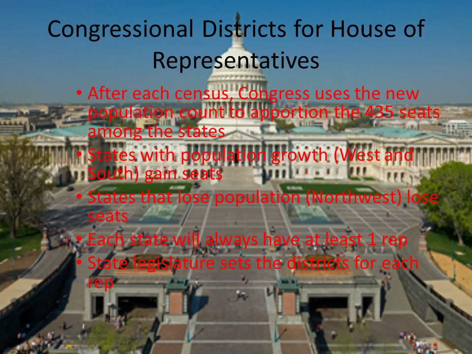 Congressional Districts for House of Representatives