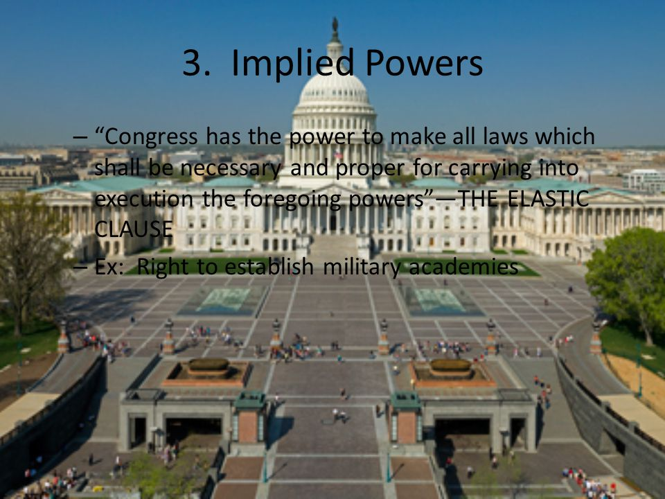 3. Implied Powers