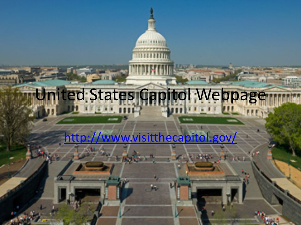 United States Capitol Webpage