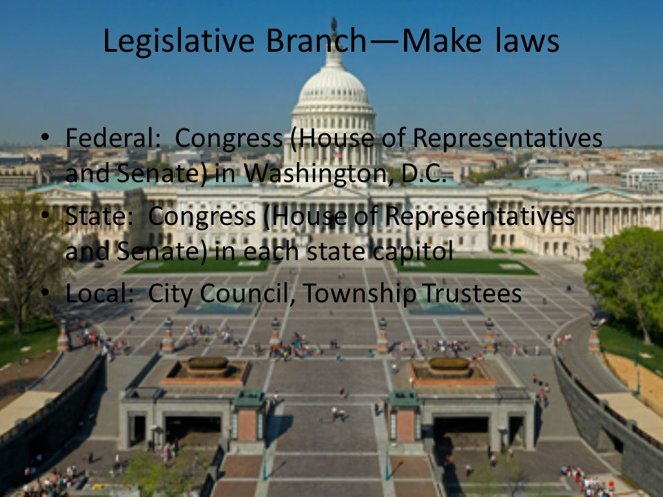 Legislative Branch—Make laws