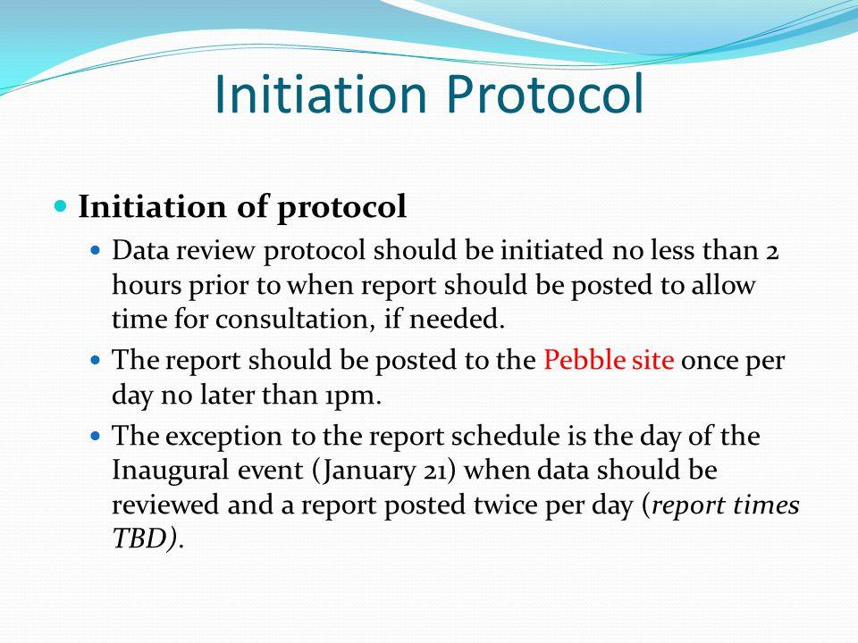 Initiation Protocol Initiation of protocol
