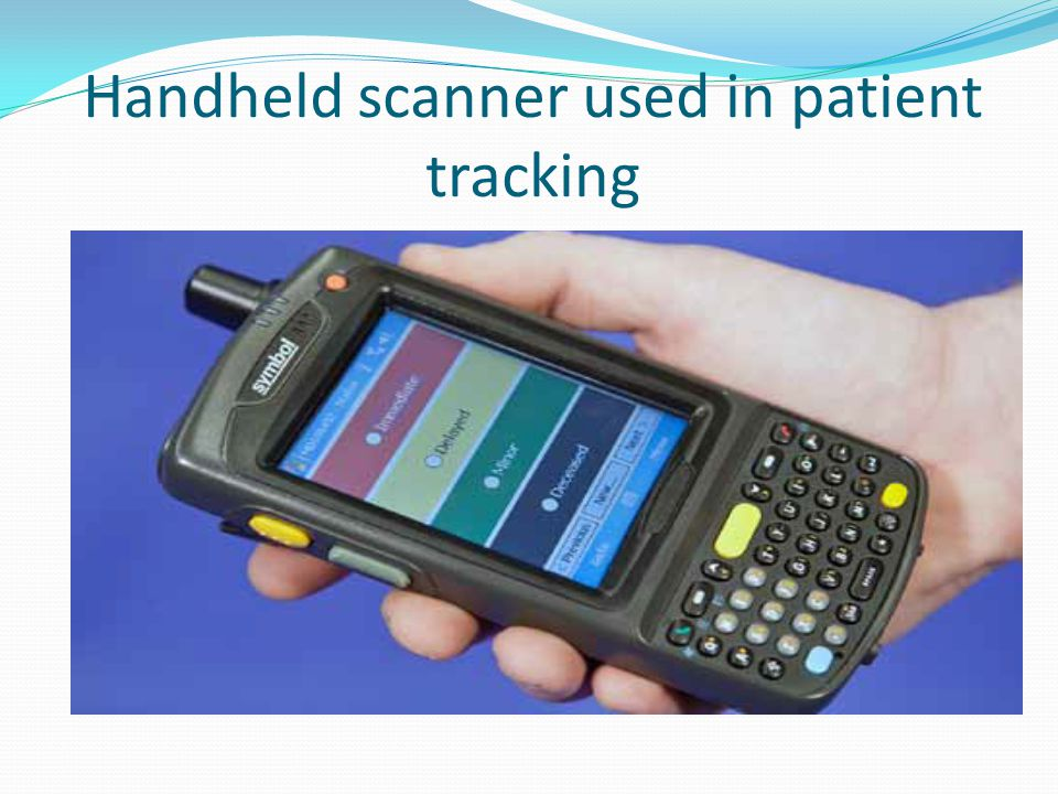 Handheld scanner used in patient tracking
