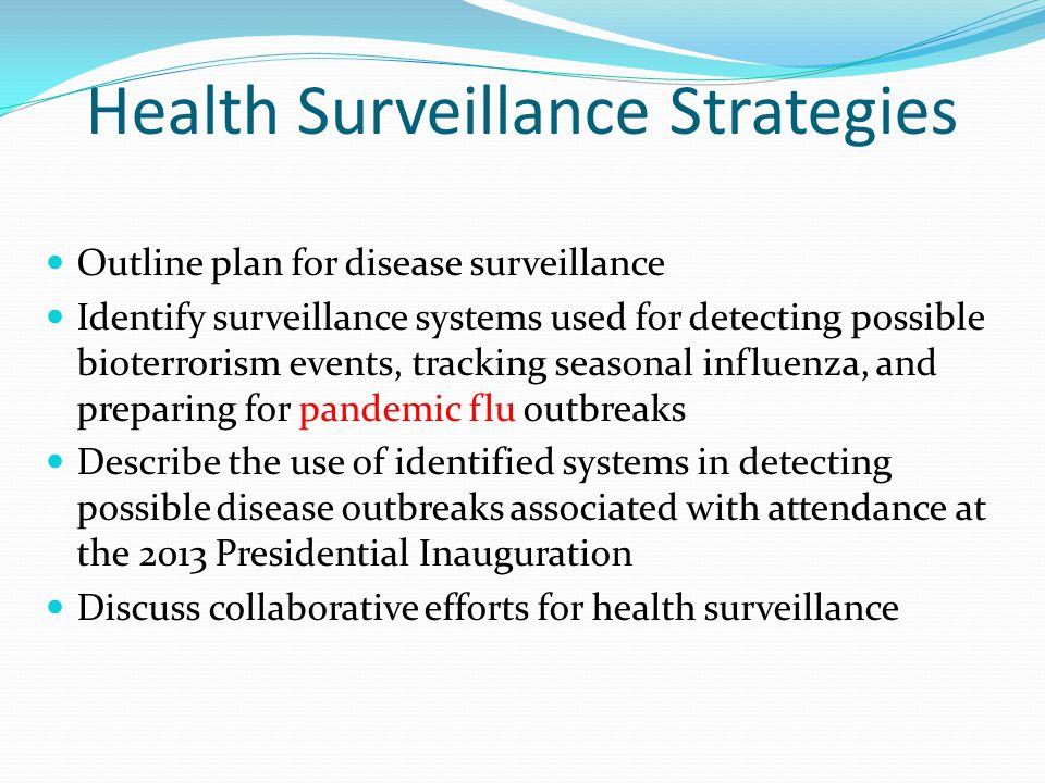 Health Surveillance Strategies