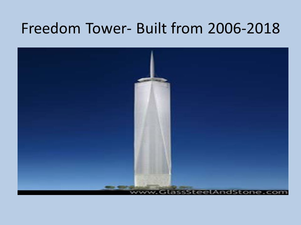 Freedom Tower- Built from 2006-2018