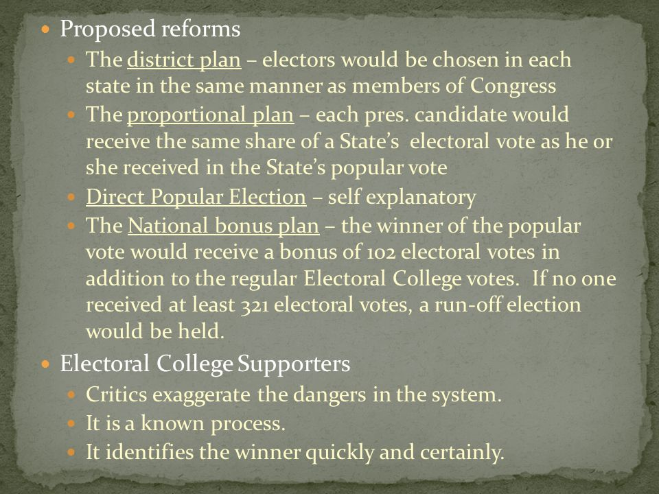 Electoral College Supporters