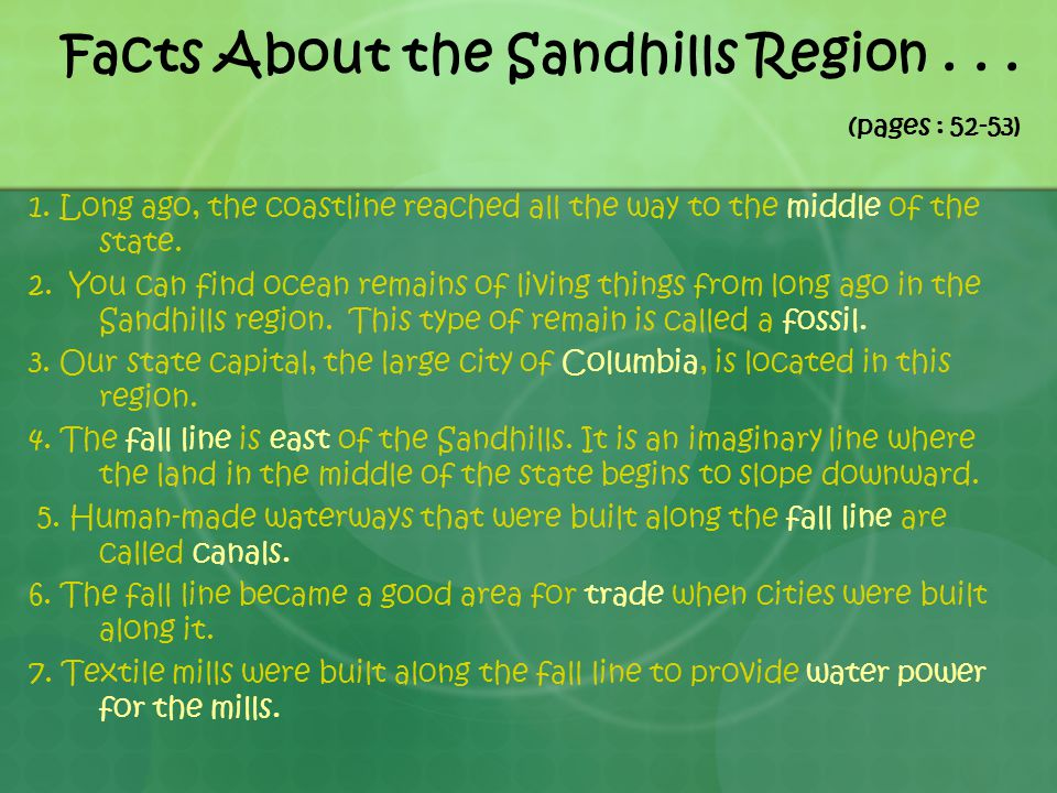 Facts About the Sandhills Region . . . (pages : 52-53)