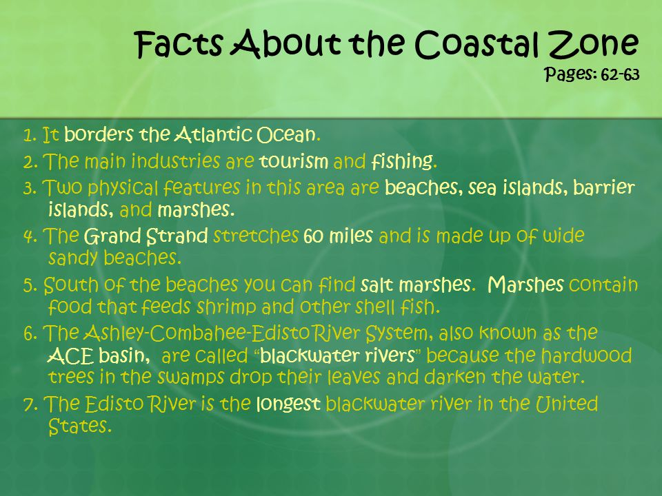 Facts About the Coastal Zone Pages: 62-63