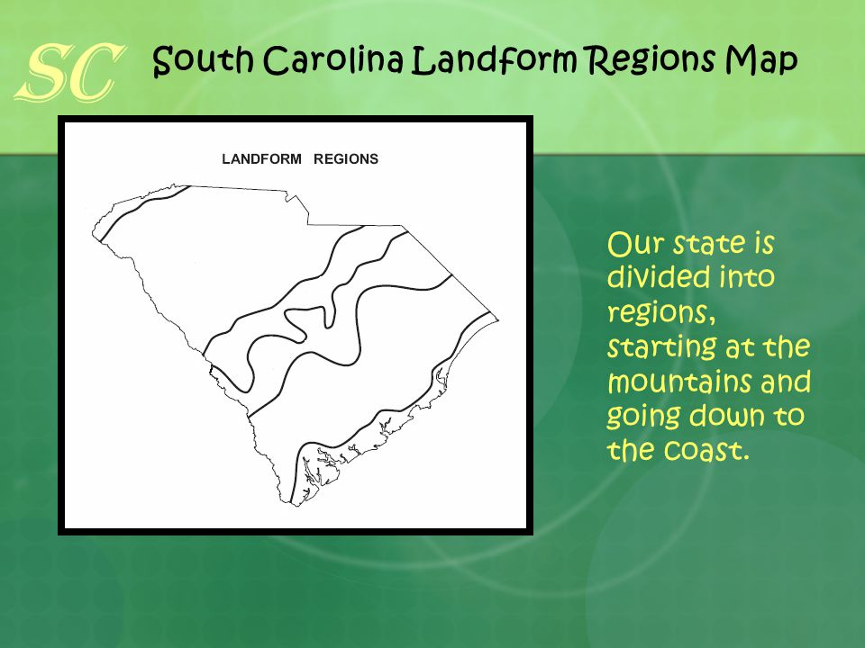South Carolina Landform Regions Map