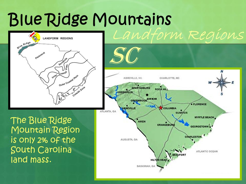 SC Landform Regions Blue Ridge Mountains