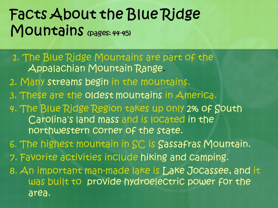 Facts About the Blue Ridge Mountains (pages: 44-45)