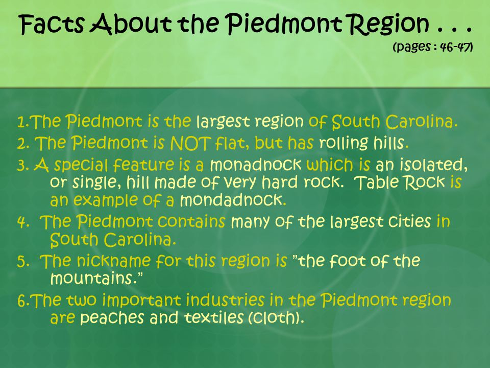 Facts About the Piedmont Region . . . (pages : 46-47)