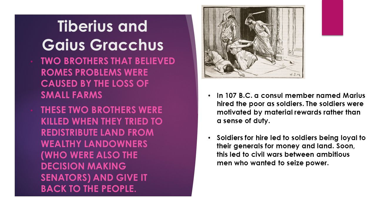Tiberius and Gaius Gracchus