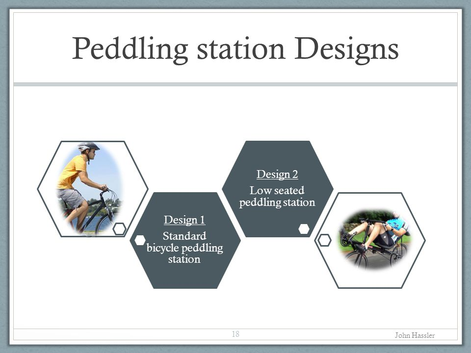 Peddling station Designs