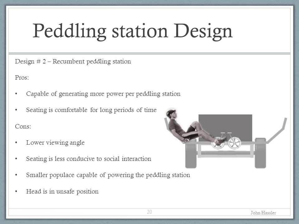 Peddling station Design