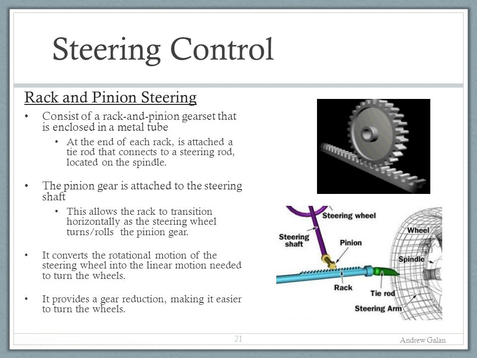 Steering Control Rack and Pinion Steering