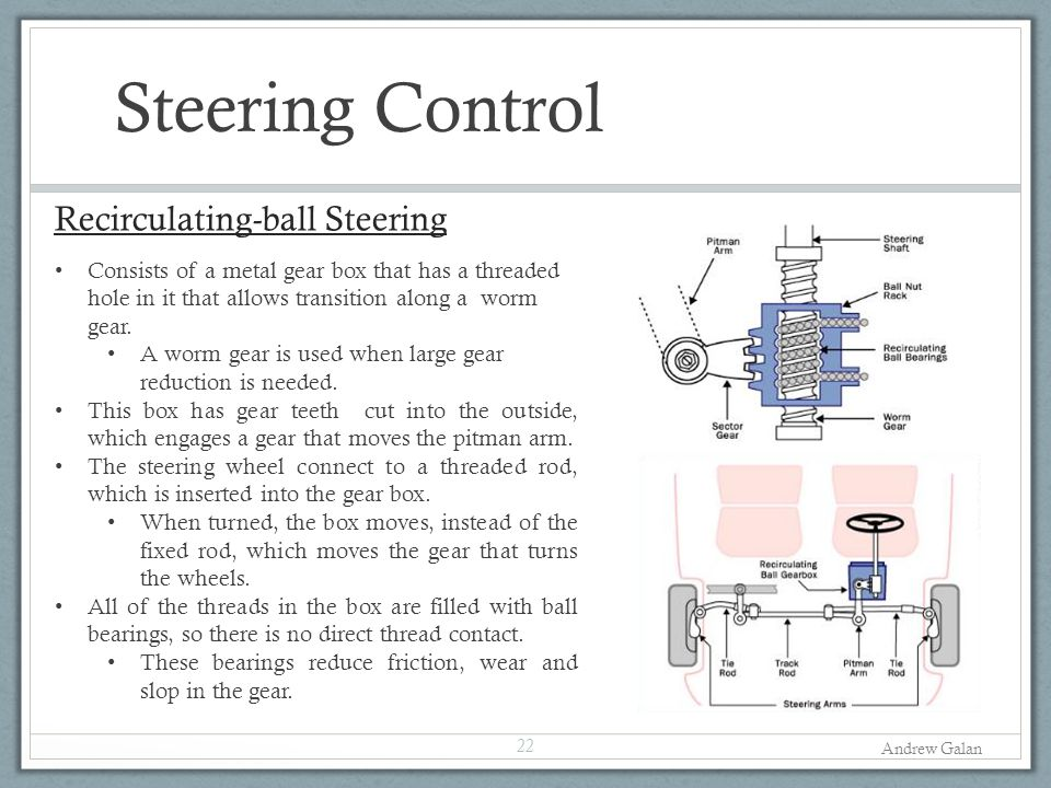 Steering Control Recirculating-ball Steering