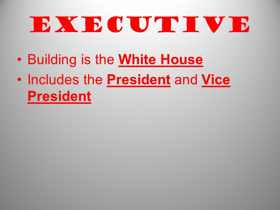Executive Building is the White House