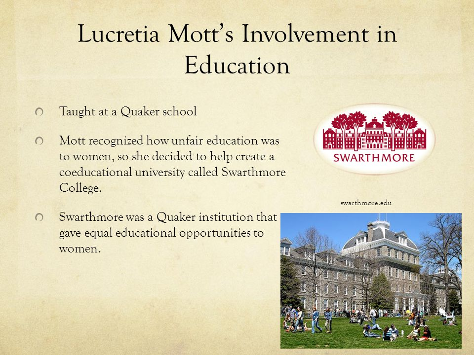 Lucretia Mott's Involvement in Education
