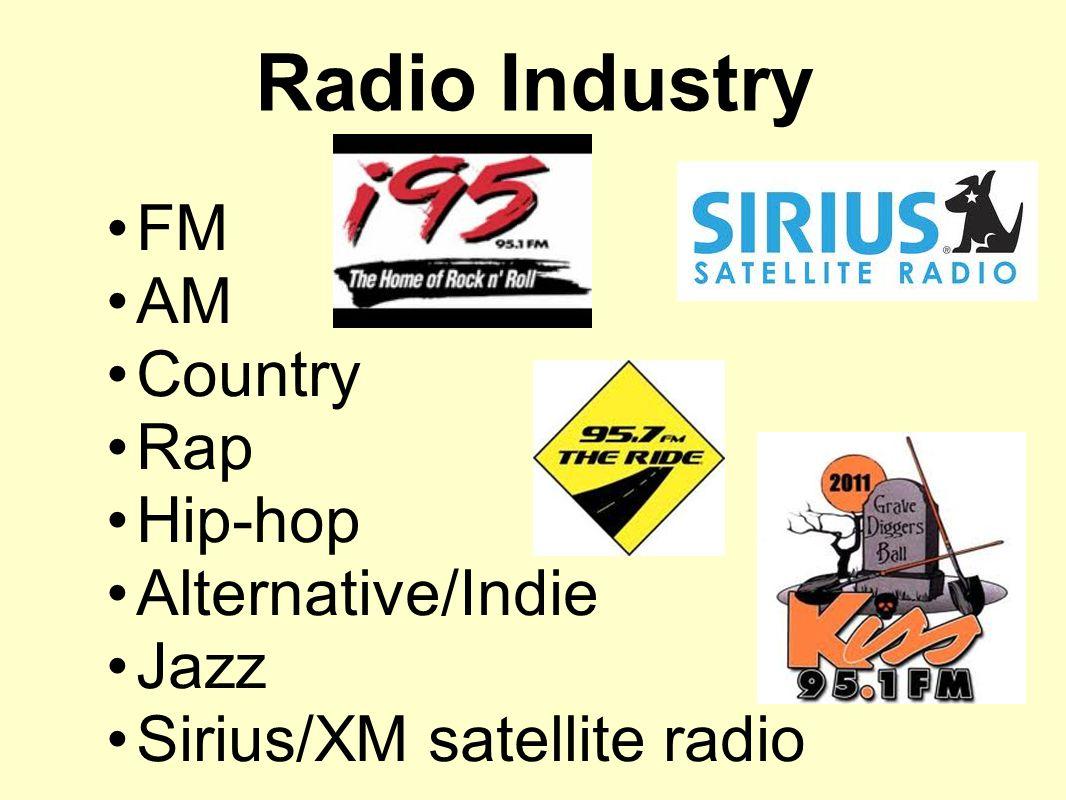 Radio Industry FM AM Country Rap Hip-hop Alternative/Indie Jazz