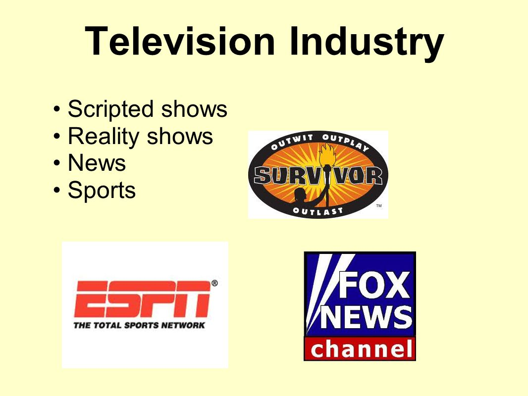 Scripted shows Reality shows News Sports