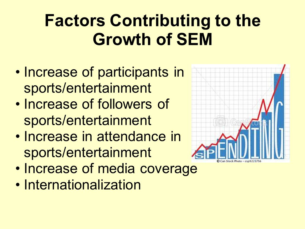 Factors Contributing to the Growth of SEM