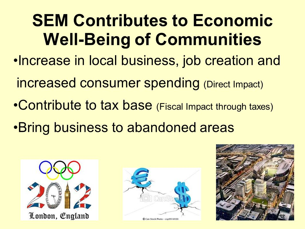 SEM Contributes to Economic Well-Being of Communities